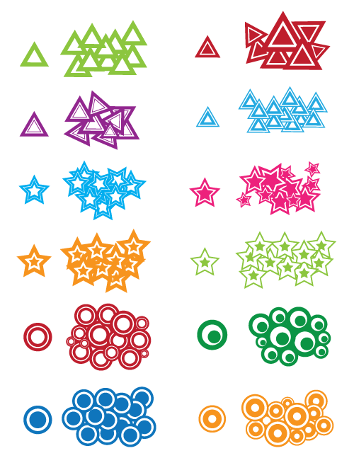 circles stars and triangles preview
