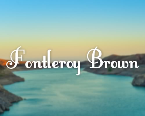 Fontleroy Brown font Preview