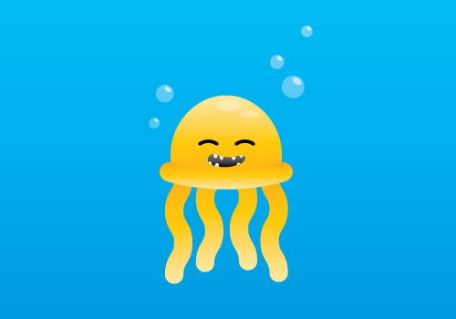 Now we have our cute Jellyfish!