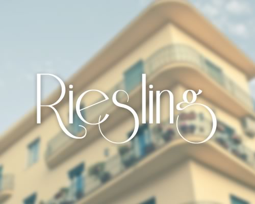 Riesling font preview