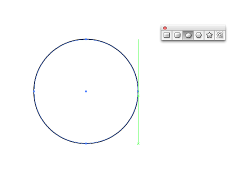 Start with the ellipse tool