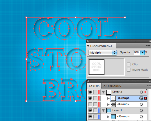 make top layer visible and into a compound path