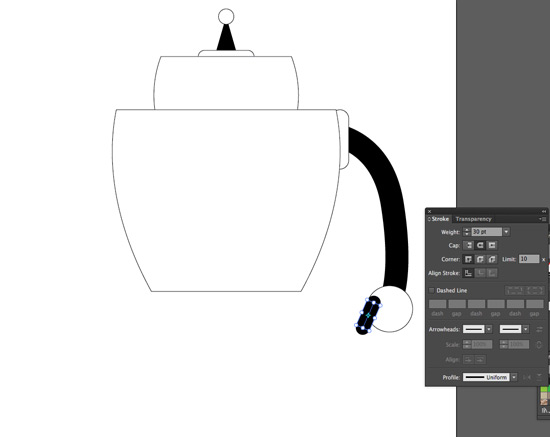 use rounded rectangle to add fingers
