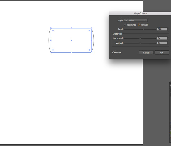 start with rectangle tool and bulge