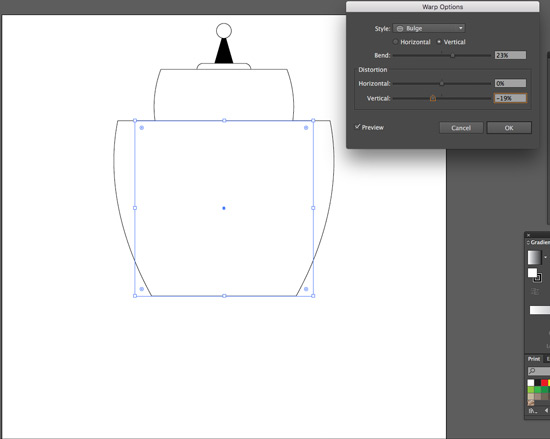 add on the body with the rectangle tool