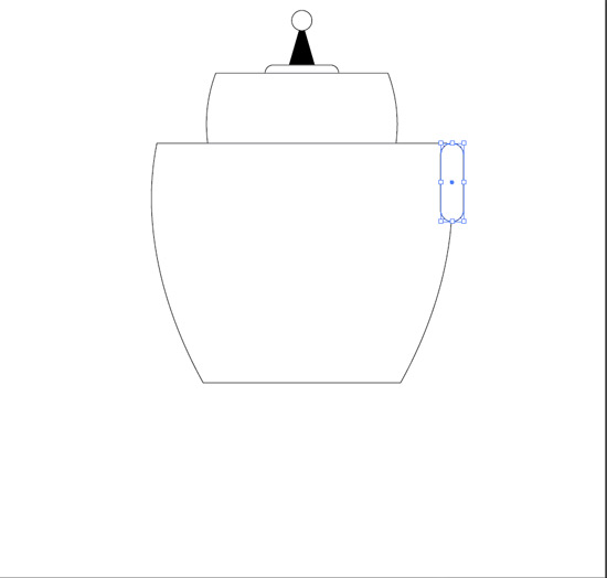 get your rounded rectangle to add the arm hole