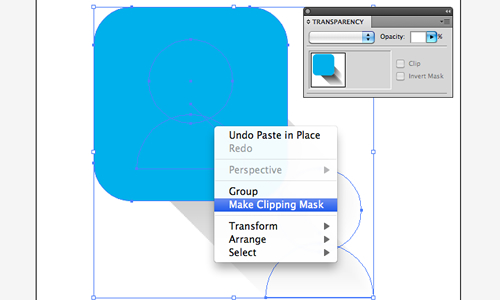 make your clipping mask around the square to hide the blend