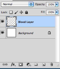 add in a layer where you'll put your blood in