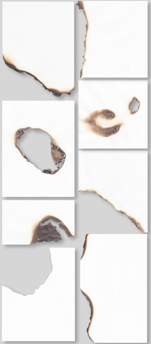 Burned paper textures preview