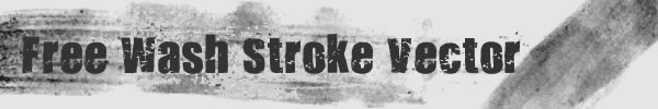 Free wash stroke vector title