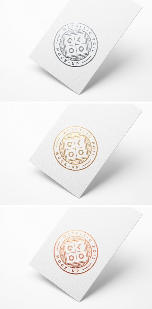 Metallic Foil Logo Mockup by Graphicburger