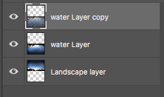 Duplicate the water layer